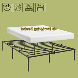 Queen Full Twin Size Bed Frame Platform Iron Mattress Founda