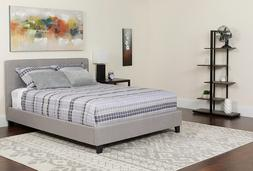 Chelsea Queen Platform Bed Frame With Headboard Light Gray F