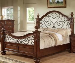 Antique Traditional Queen King Bedroom furniture Classic sty