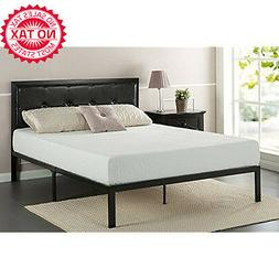 Frames Classic Platform Bed Faux Leather Headboard Steel Sup