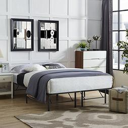 Modway Horizon Full Bed Frame in Brown - Replaces Box Spring