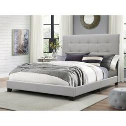 King Size Bed Frame Button Tufted Padded Headboard Upholster