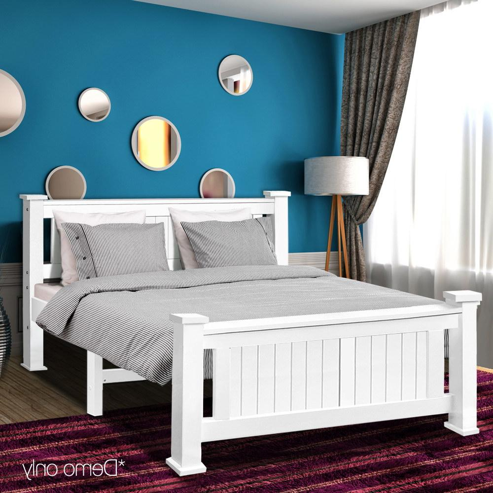 204 149cm Double White <font><b>Bed</b></font> For Adults Children
