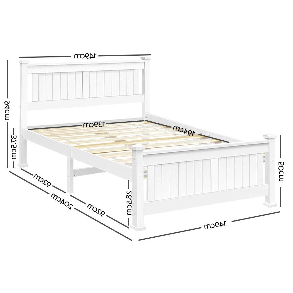 204 X Size White Finish <font><b>Bed</b></font> For Adults Children Comfortable AU