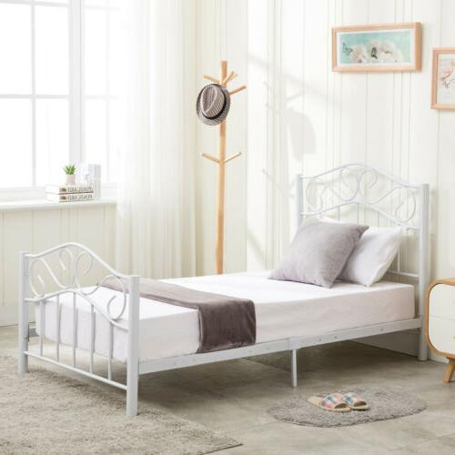 Twin Frame Headboard and Footboard White