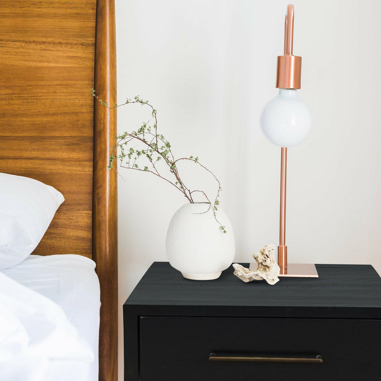 Audrey Cal size Bed Wood Platform Nightstand