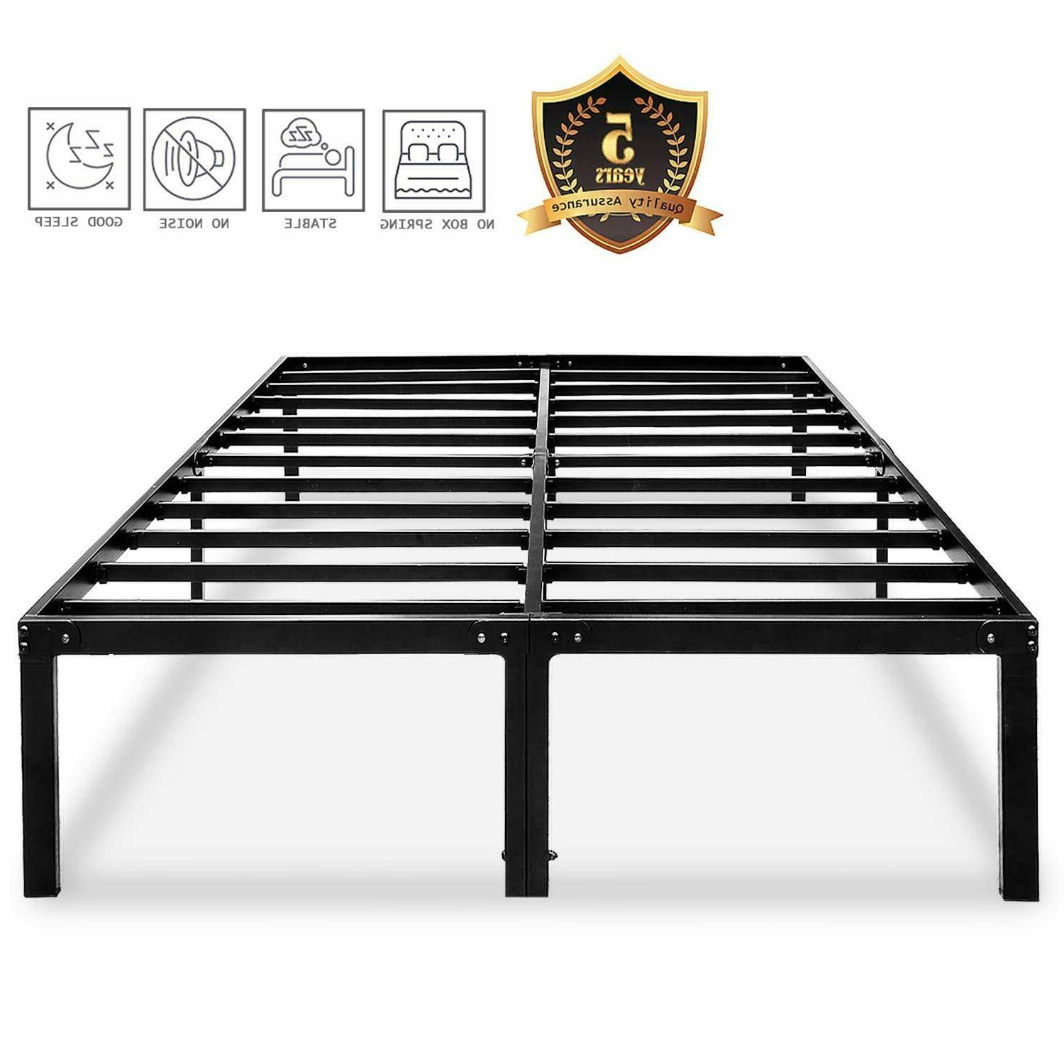 metal platform bed frame 14 inch beds