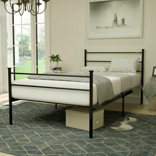 Twin Size Metal Bed Frame Platform Headboards Furniture Bedr