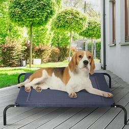 Large Indoor Outdoor Camping Steel Frame Elevated Pet Cot Ma