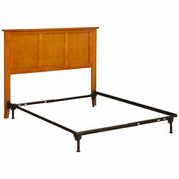 Madison Headboard Full Size with Metal Bed Frame Caramel Bro