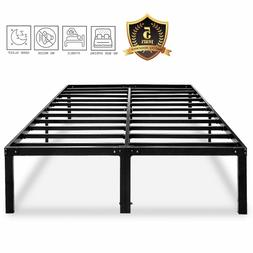 Metal Platform Bed Frame Heavy Duty 14 Inch Beds No Box Spri