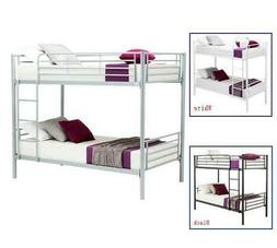Hot 3 Colors Metal Twin over Twin Bunk Beds Frame Ladder for