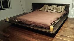 PICKUP ONLY Fujian Japanese Floating Bed Frame Real Wood Ver