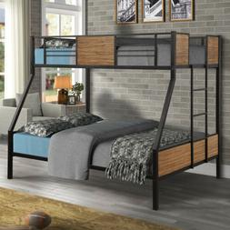 Twin-over-Full Bunk bed with Rails Buit in Ladders Bedroom B