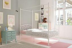 Twin Metal Canopy Bed