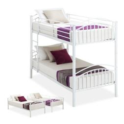 Twin Over Twin Metal Bunk Bed Frame Convertible Frames Bedro